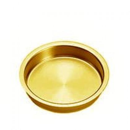 "Flush Pull (Brass Plated) - 2-3/8"""