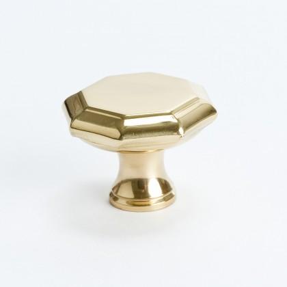 Octagonal Knob -Hollow- (Brass) - 37mm
