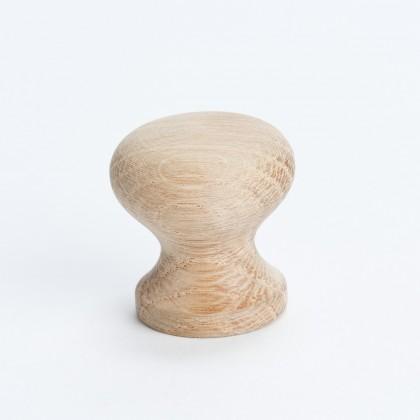 """Knob (Unfinished Oak) - 1"""""""