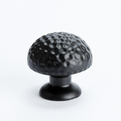 Hammered Knob (Black) - 1 3/8""