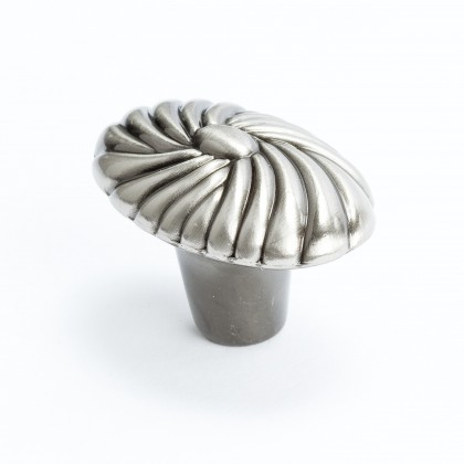 "Oval Shell Knob (Brushed Black Nickel) - 1 5/8"""