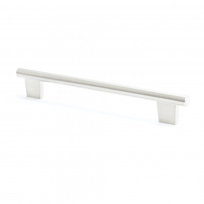 Round Bar Pull (Brushed Nickel) - 192mm
