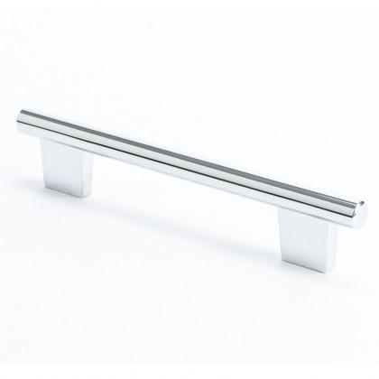 Round Bar Pull (Polished Chrome) - 128mm