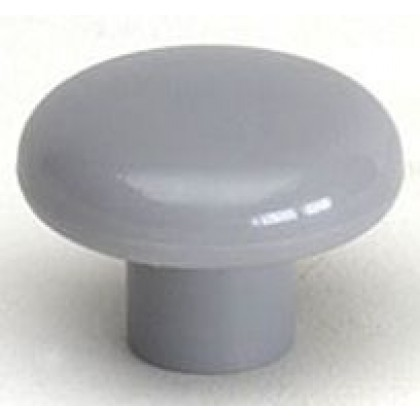 Knob (Dark Gray Polypropylene) - 1 1/2""