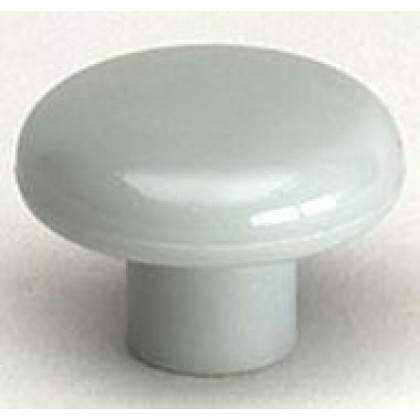 "Knob (Light Gray Polypropylene) - 1 1/2"""