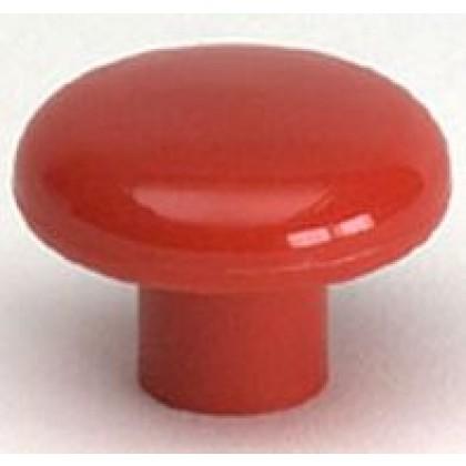 "Knob (Red Polypropylene) - 1 1/2"""