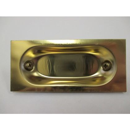 Flush Pull (Brass Plated) - 3-1/16""
