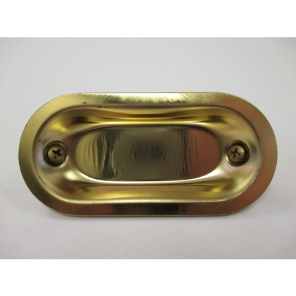 "Flush Pull (Brass Plated) - 2-29/32"""