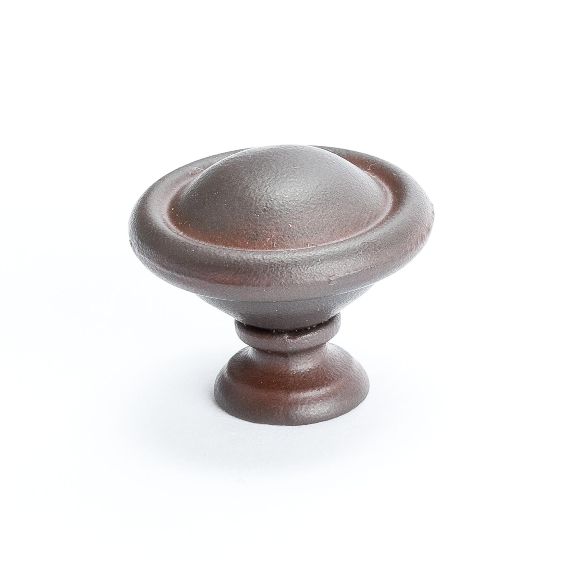 "Domed Knob (Bronze W/Rust Glaze) - 1 3/16"""