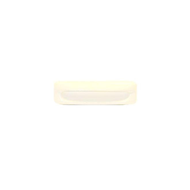 """Plastic Recessed Pull (White) - 4 3/8"""""""