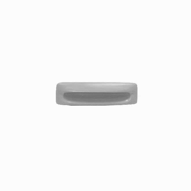 Plastic Recessed Pull (Gray) - 4 3/8""
