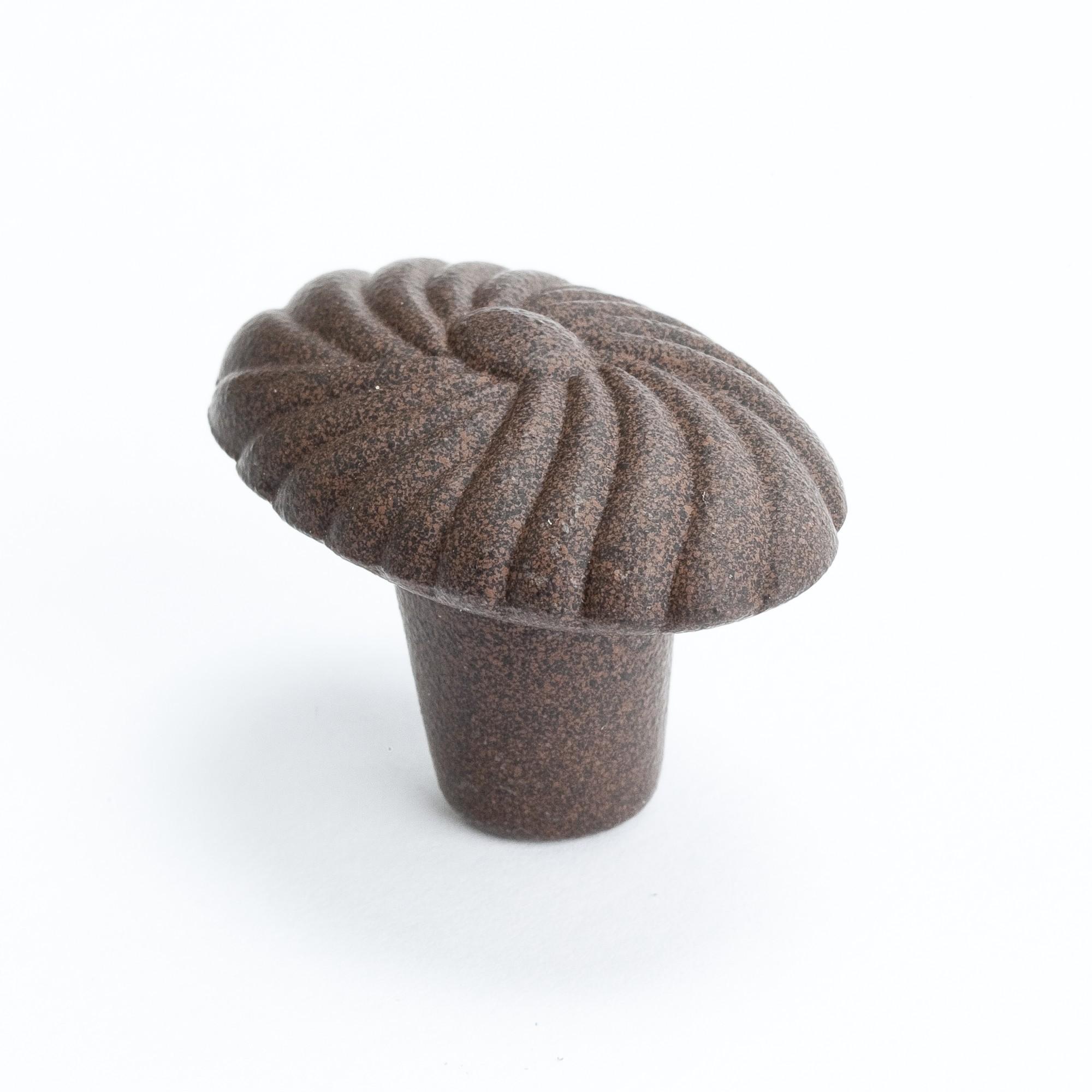 """Oval Shell Knob (Dull Rust) - 1 5/8"""""""