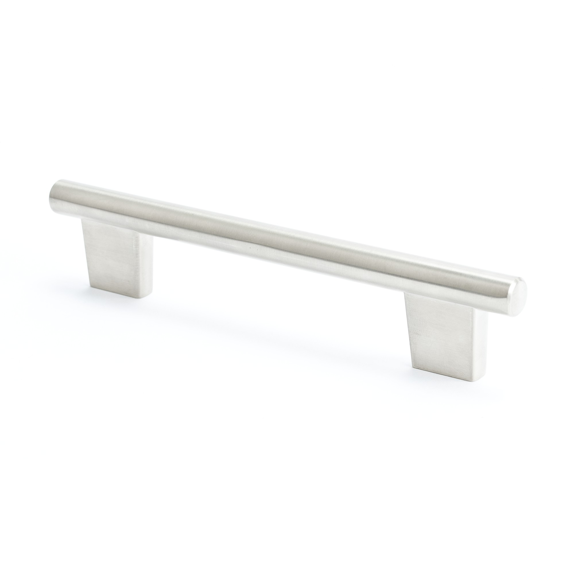 Round Bar Pull (Brushed Nickel) - 128mm