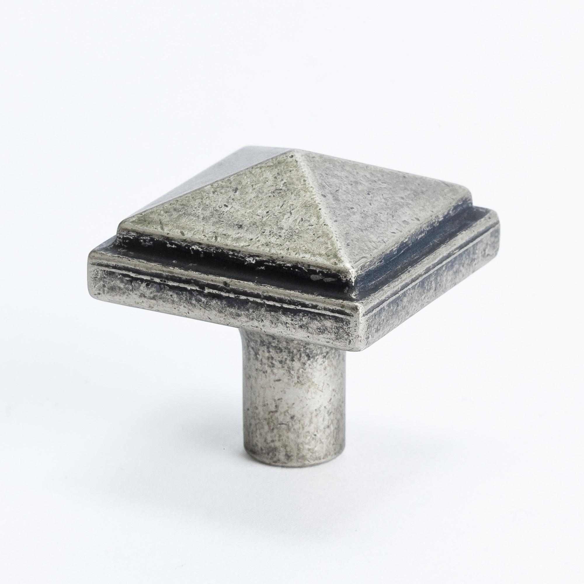 "Square Knob (Weathered Nickel) - 1 3/16"""