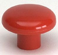 Knob (Red Polypropylene) - 1 1/2""