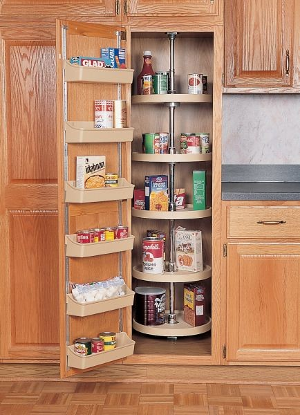 18 Quot Full Circle Pantry Lazy Susan Almond Five Shelf