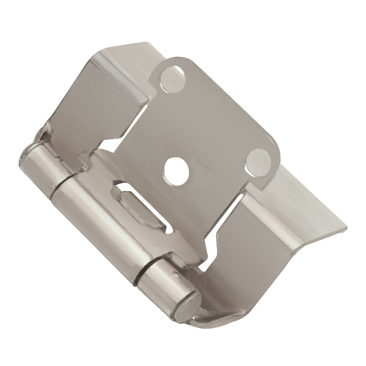 3 8 Offset Cabinet Hinges Face Frame Hinge Satin Nickel 1 2 Overlay P5710f Sn Hickory