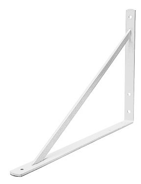 White Heavy Duty Shelf Bracket - (19.6 in. x 12.9 in.)