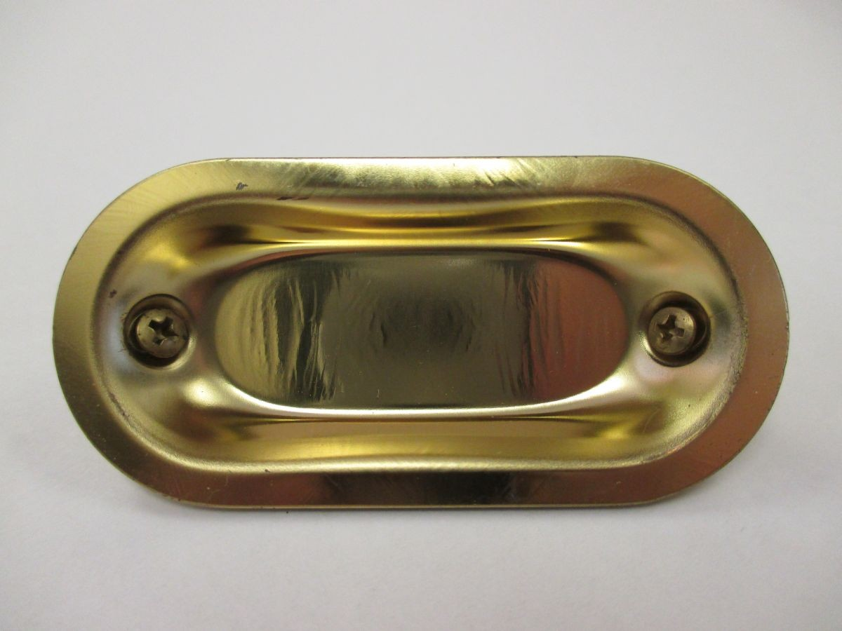 Flush Pull (Brass Plated) - 2-29/32""