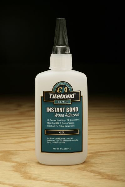 Titebond Instant Bond Adhesive (Gel) - 4 oz