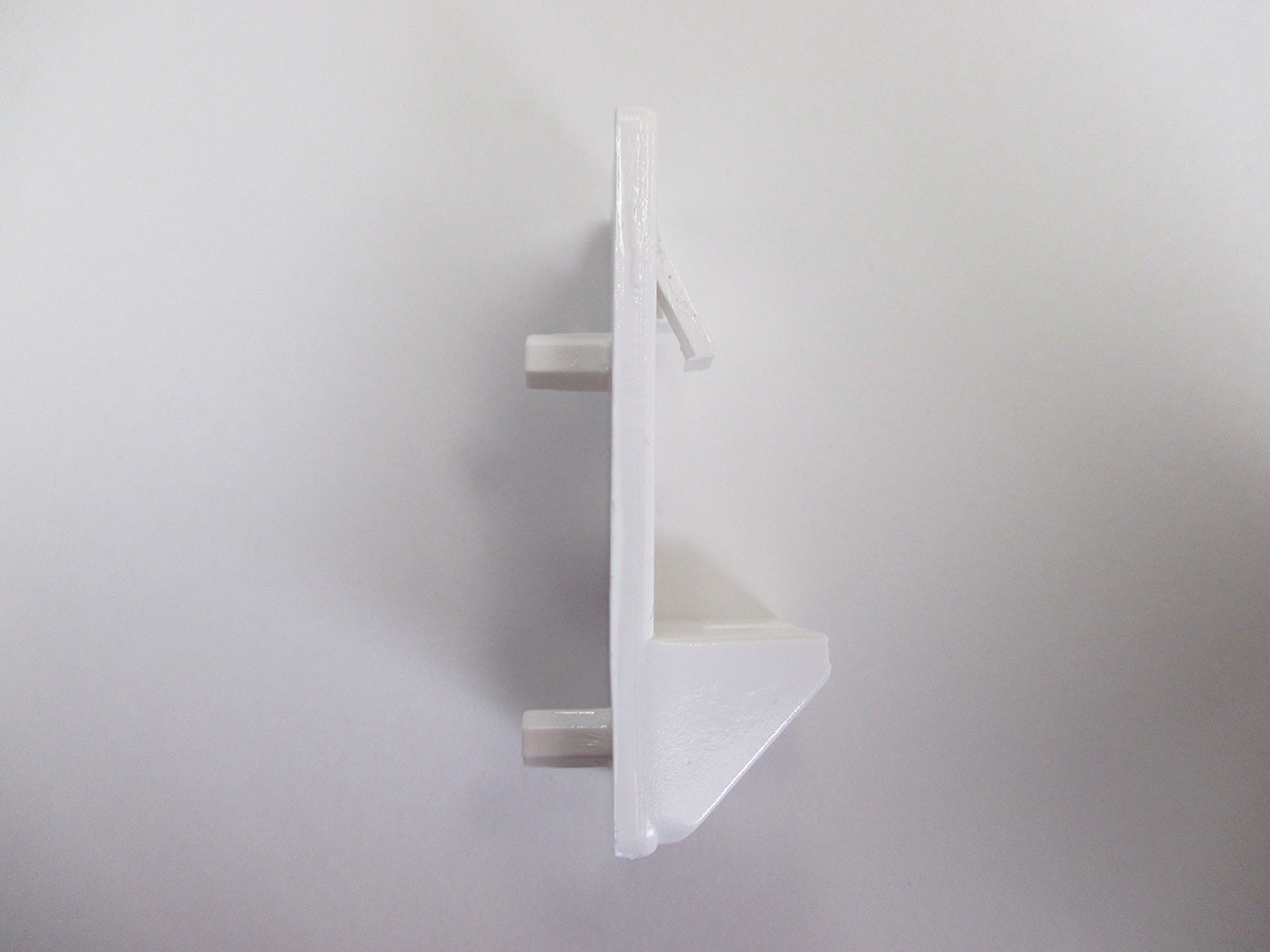 Heavy Duty Locking Shelf Support Double Pin White