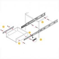 """5632 Full Extension Drawer Slides - 22"""" (bulk)"""