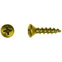 """#5 x 5/8"""" Oval Head, Phillips Drive, Deep Thread, Bright Brass"""