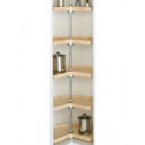 """24"""" Kidney Shape Lazy Susan (Wood) - Five Shelf Set w/o Post"""