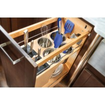 "11"" Knife Block & Utensil Base Organizer"
