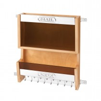 Mail Organizer (Natural Wood)