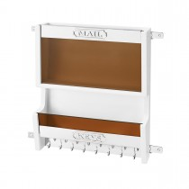 Mail Organizer (White Wood)
