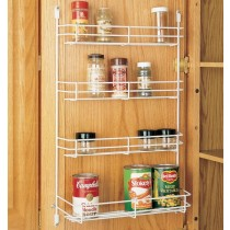 "10 5/8"" Door Mount Spice Rack (White Wire)"