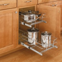 "12"" Double Pull-Out Wire Basket (22"" Depth)"