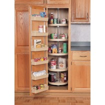 "16"" Five Shelf Full Circle Pantry Sets and Hardware (White)"