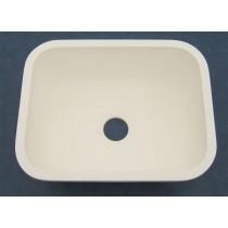 """23"""" x 18"""" Single Bowl Kitchen Sink - White"""