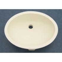 "16"" x 12"" Oval Vanity Sink w/Overflow - Off White"