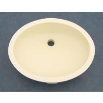 """16"""" x 12"""" Oval Vanity Sink w/Overflow - Biscuit"""