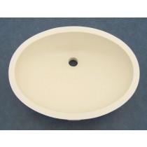"""19"""" x 14"""" Oval Vanity Sink w/Overflow - Biscuit"""