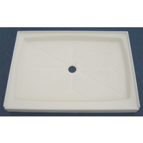 "32"" x 48"" Shower Base (Center Drain) - Cameo"