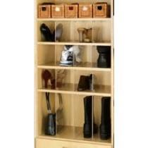 "13 1/2"" x 14 1/8"" Acrylic Shelf Organizers (10 pack)"