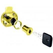 Brass Drawer Lock (w/ 2 Keys) - 30mm