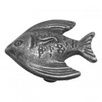 "Angel Fish Knob (Vibra Pewter) - 1 1/2"""
