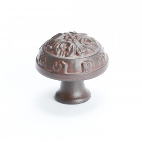 "Domed Knob (Bronze W/Rust Glaze) - 1 1/4"""