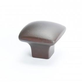 """Square Knob (Bronze W/Rust Glaze) - 1 1/4"""""""