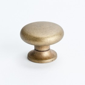 Knob (Dull Antique Brass) - 1 3/16""