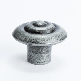 Knob w/Ring (Weathered Iron) - 1 1/8""