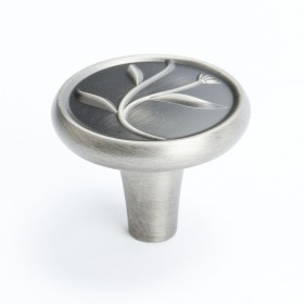 """Knob (Vintage Nickel) - 1 1/4"""""""