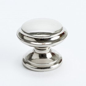 Knob (Polished Nickel w/Outer Ring) - 35mm