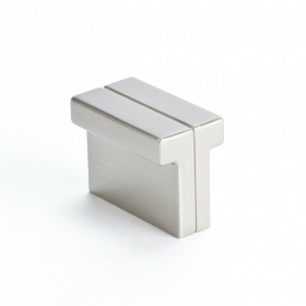 "Knob (Brushed Nickel) - 1-3/8"" x 3/4"""