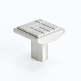 "Knob (Brushed Nickel) - 1-1/8"" x 1-1/8"""